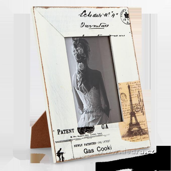 Dřevěný stylový fotorámeček PARIS