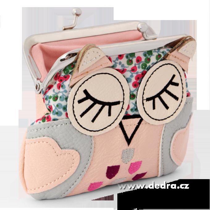 FC77323-Puzdro / peňaženka s aplikáciou sovy marhuľovej