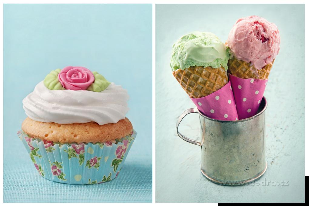 OBRAZ na plátne sada 30x40 cm - Muffin, zmrzlina