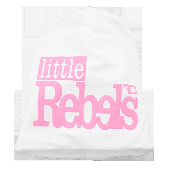 REBELS little čepice, bílo-růžová
