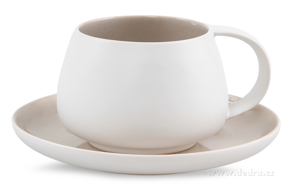 BALI CERAMICS, šálek s podšálkem