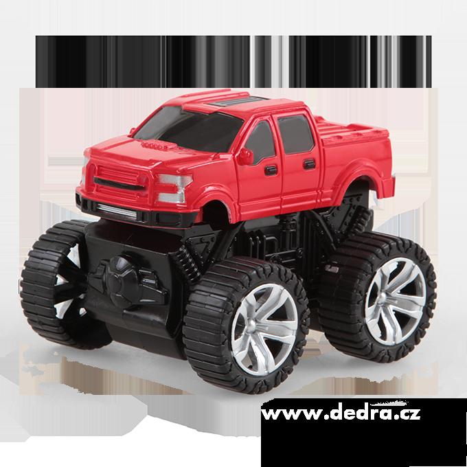 MONSTER TRUCK terénní auto SUV červená metalíza