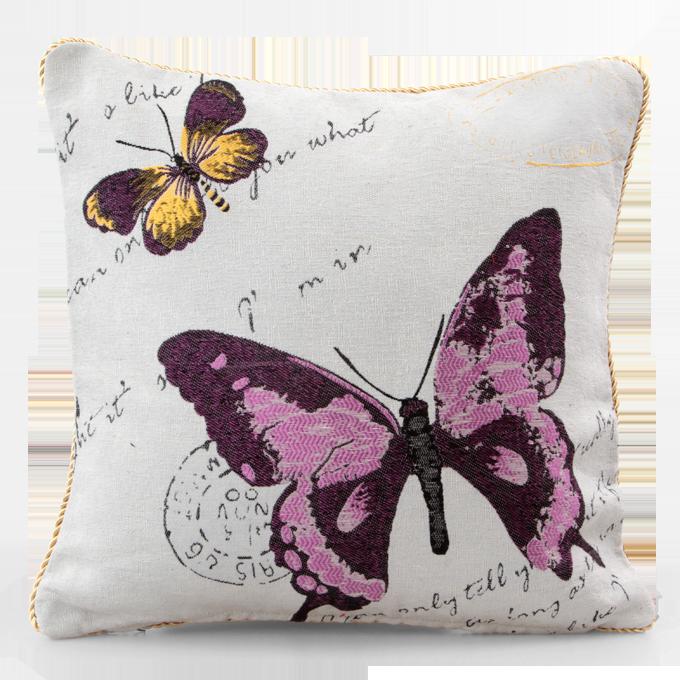 GOBELINO potah na polštář violet butterfly