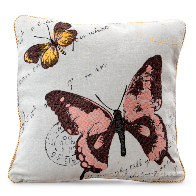 GOBELINO potah na polštář oboustranný pink butterfly