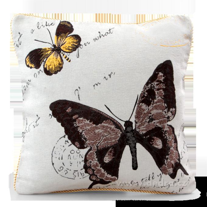 GOBELINO potah na polštář natural butterfly