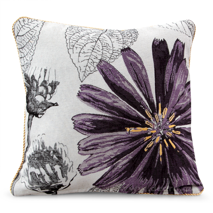 GOBELINO potah na polštář oboustranný violet flower