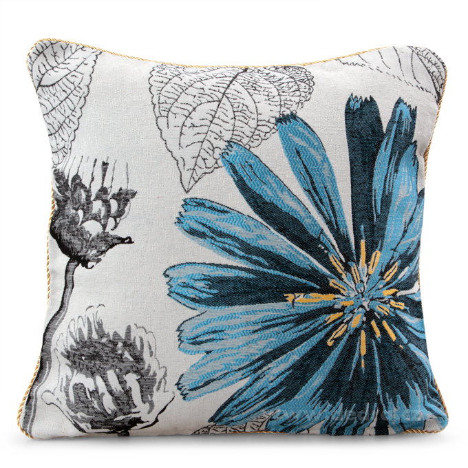 GOBELINO potah na polštář oboustranný blue flower