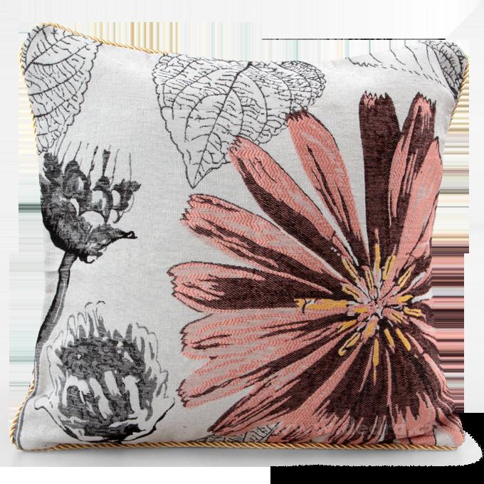 GOBELINO potah na polštář oboustranný pink flower