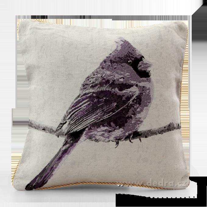 GOBELINO potah na polštář oboustranný violet bird