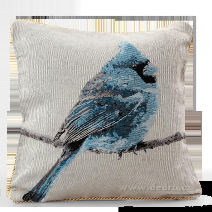 GOBELINO potah na polštář oboustranný blue bird