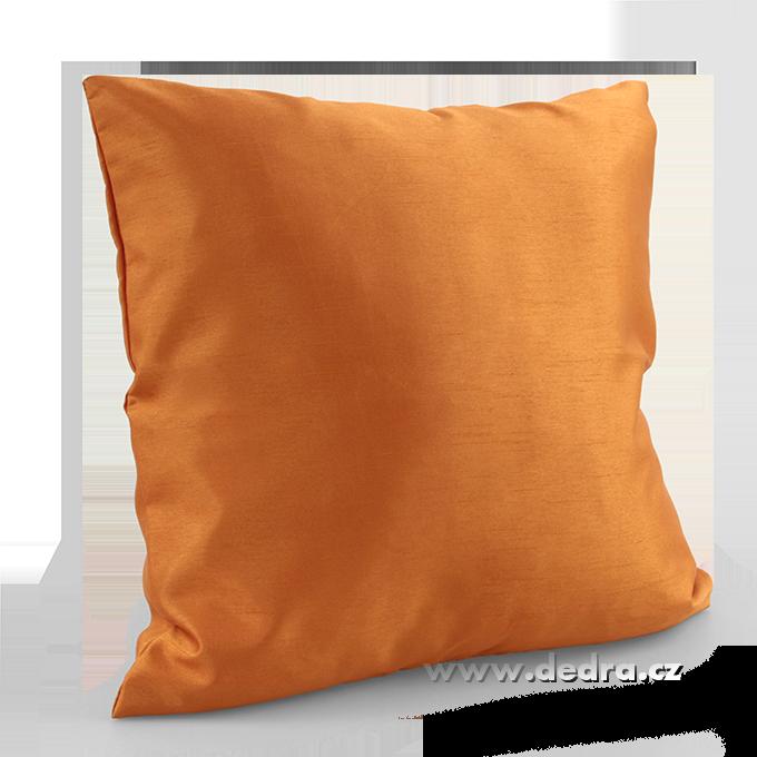 Potah na polštář oranžovo-měděný