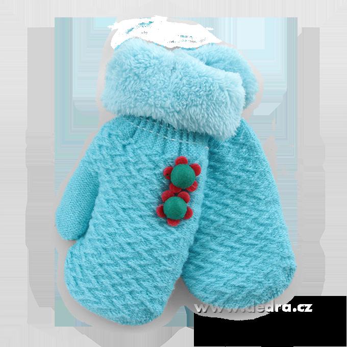 Palčáky - rukavice, dětské, blank.modré