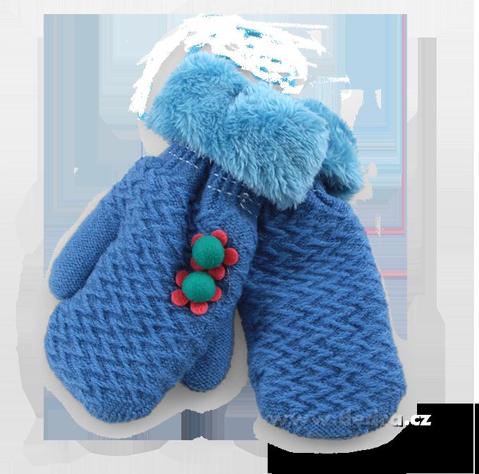 Palčáky - rukavice, dětské, modré