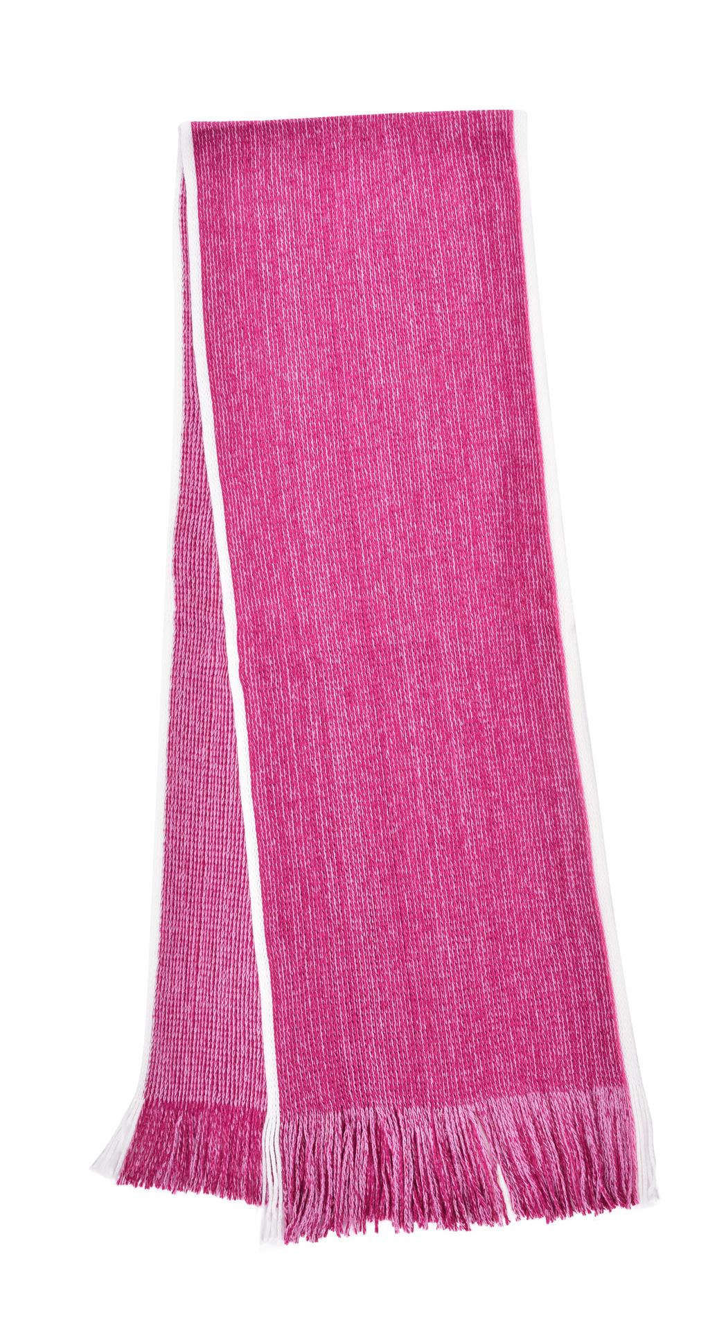 Hebký pletený šál s bílým okrajem