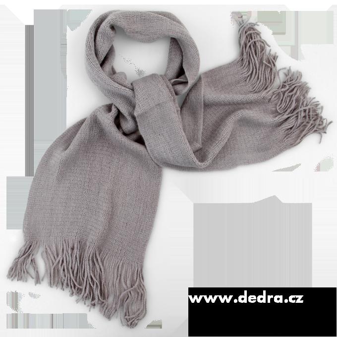 Pletený šál šedý