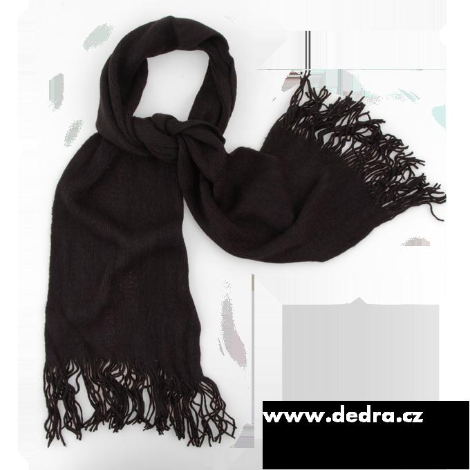 Pletený šál černý