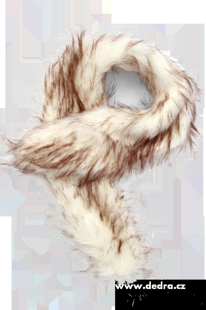Šál,kožešinový límec saténová podšívka melírovaný