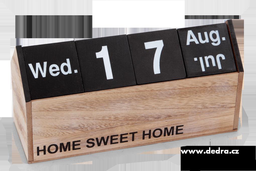 Dřevěný kalendář, - datum se mění pomocí kostek