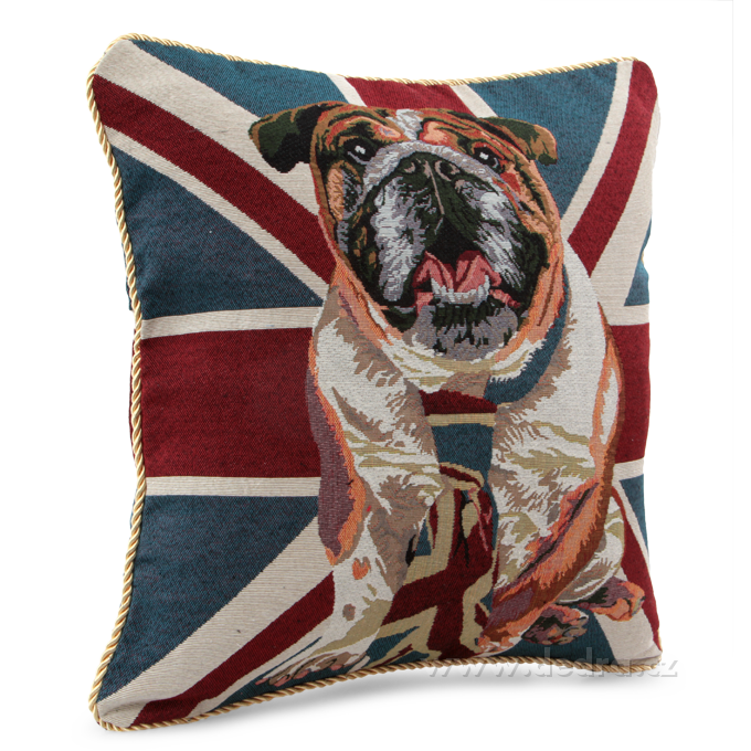FC8345-Gobelíny poťah na vankúš obojstranný London Dog