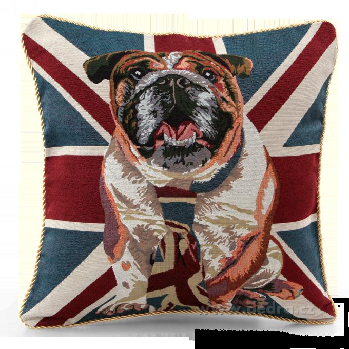 GOBELINO potah na polštář oboustranný London Dog