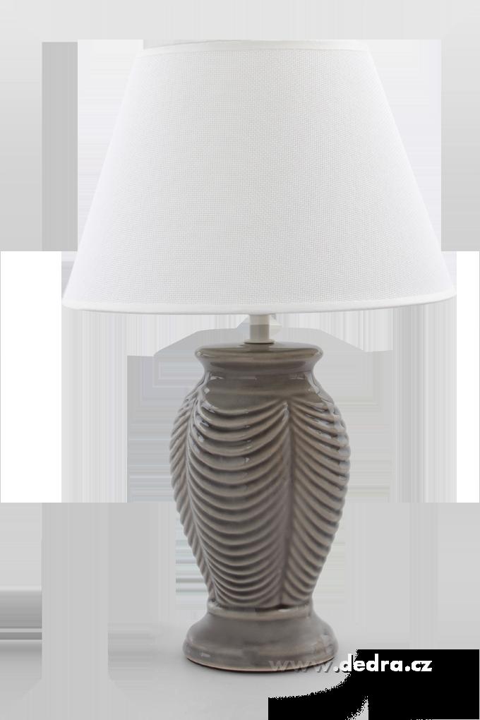 NATURE stolní lampa šedá