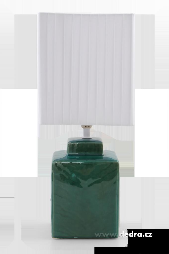 CUBE stolní lampa 42 cm mentolová