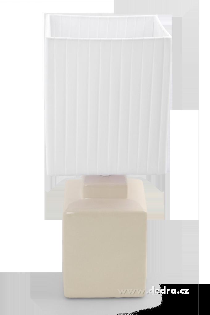 CUBE stolní lampa 42 cm, krémová