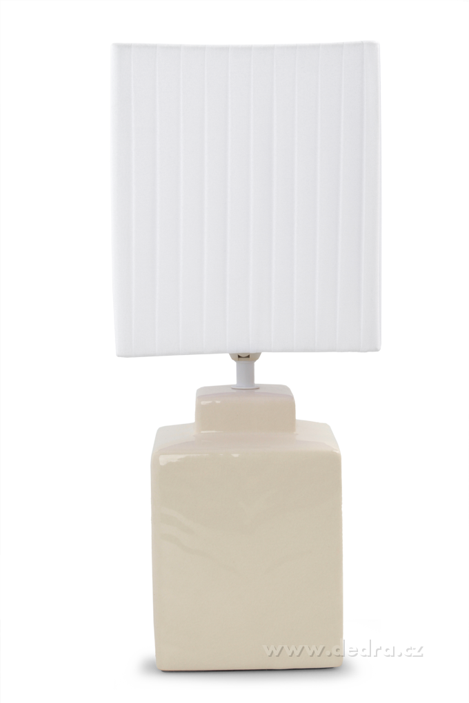 CUBE stolní lampa 42 cm krémová