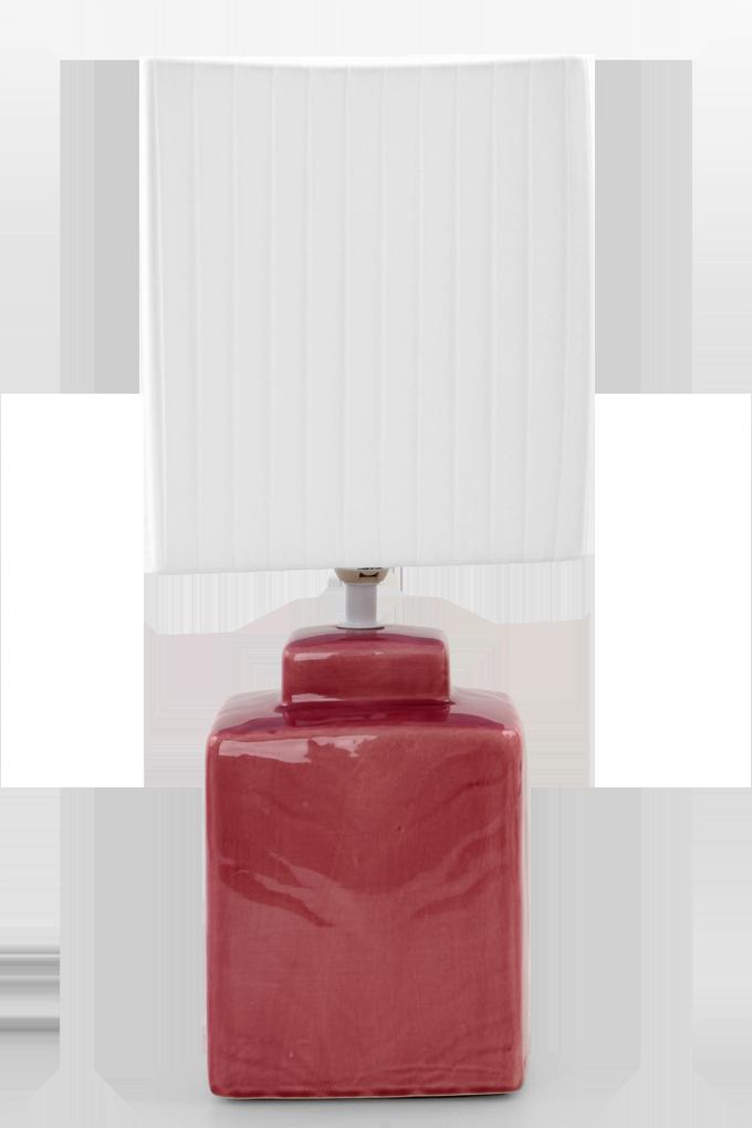 CUBE stolní lampa 42 cm růžovofialová