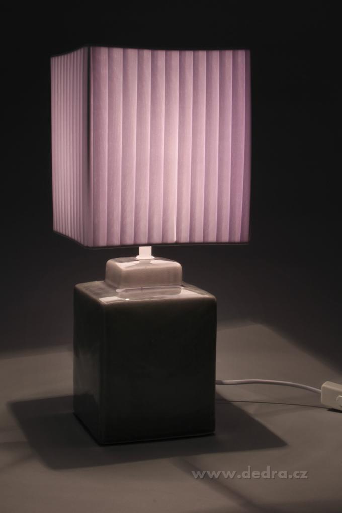 CUBE stolní lampa 42 cm, šedá