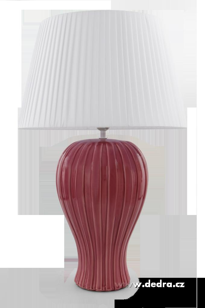BELL XXL stolní lampa růžovofialová výška 62 cm