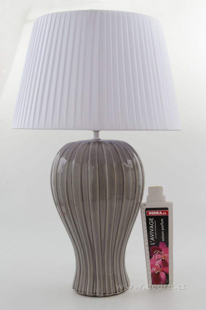 BELL XXL stolní lampa, šedá - výška 62 cm