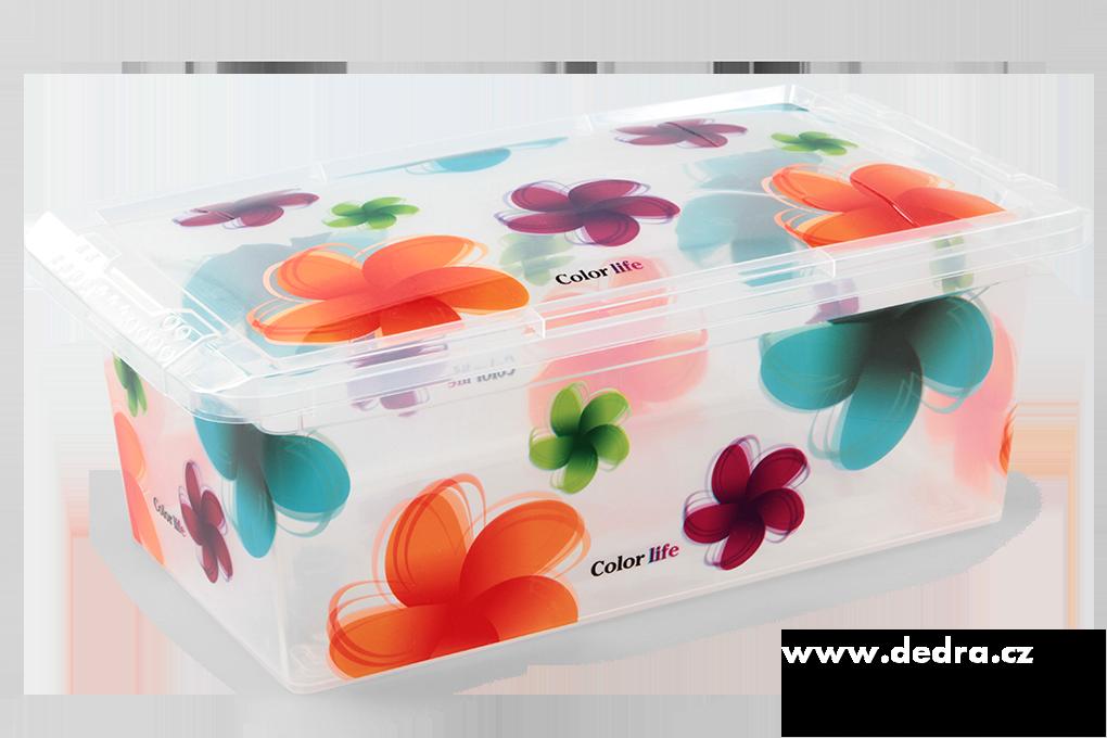 Úložný box, všestranný s květy