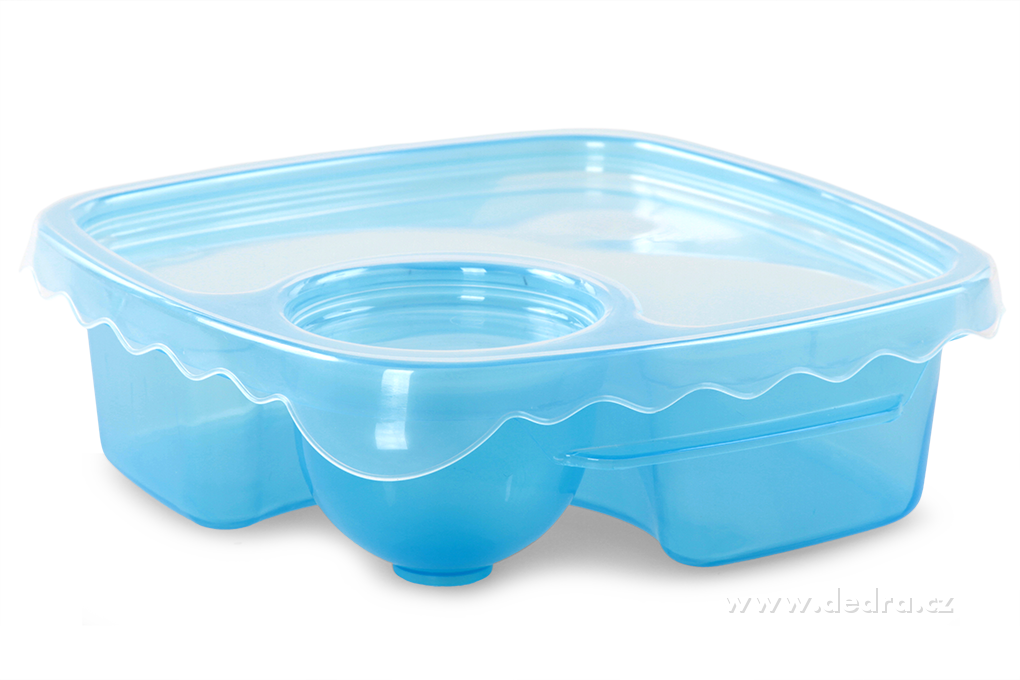 DA83551-Duobox 500ml + 100ml dóza na potraviny modrý