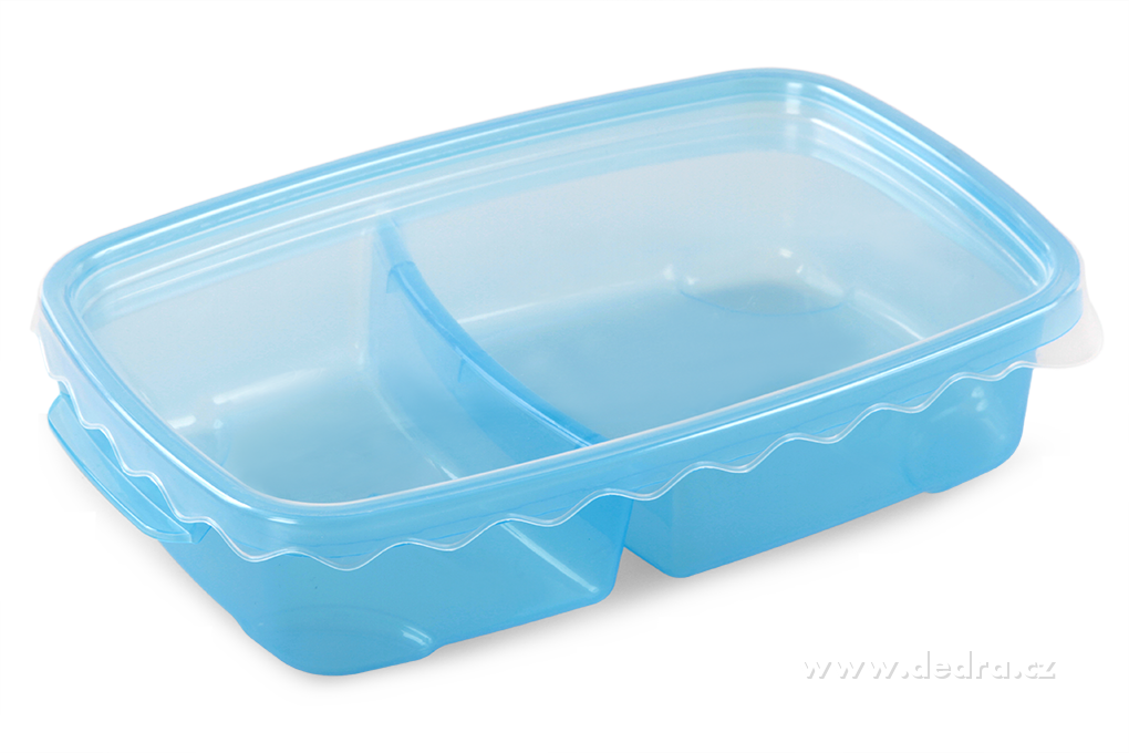 Duobox 500ml+300ml dóza na potraviny modrý