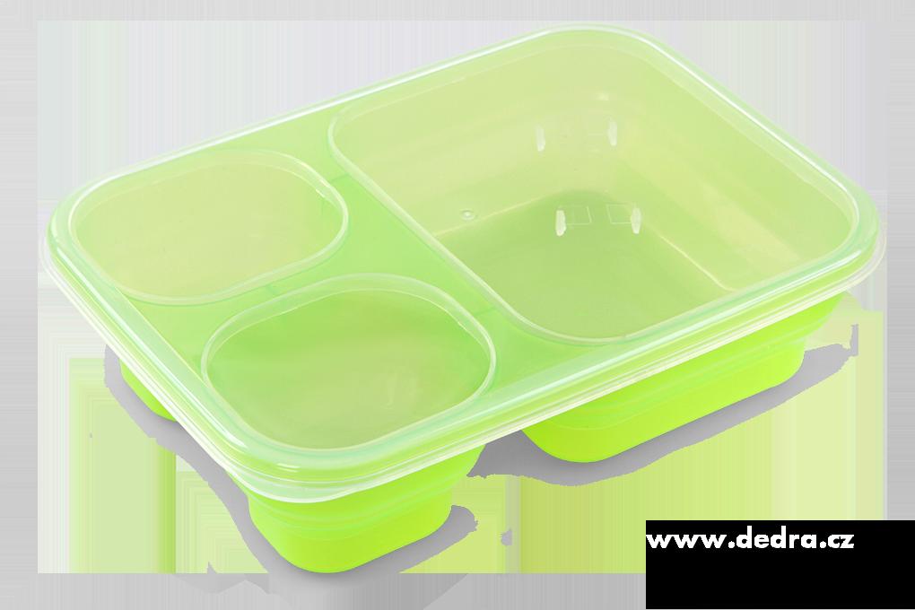 Triobox zelený dóza na potraviny 1000 + 250 + 250 ml