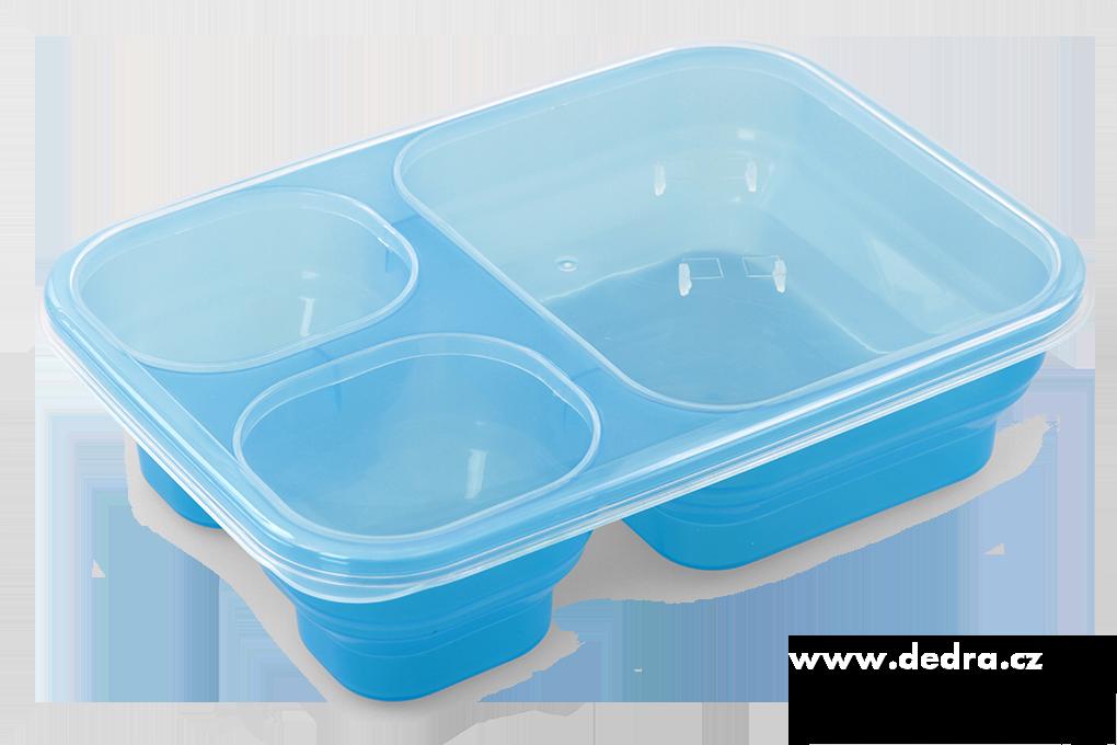 Triobox modrý dóza na potraviny 1000 + 250 + 250 ml