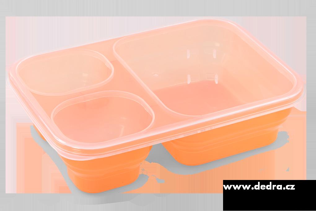 Triobox oranžový dóza na potraviny 1000 + 250 + 250 ml