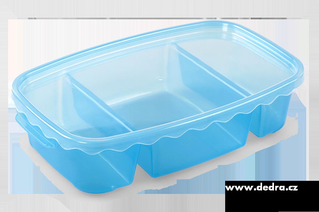 Triobox modrý dóza na potraviny 800 + 300 + 300 ml