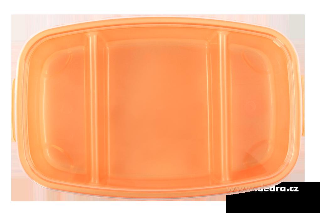 DA83603-Triobox oranžový dóza na potraviny 800 + 300 + 300 ml