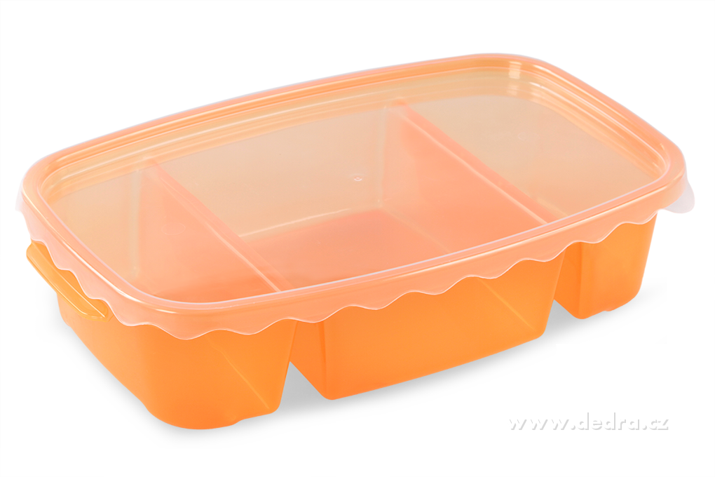 Triobox oranžový, dóza na potraviny