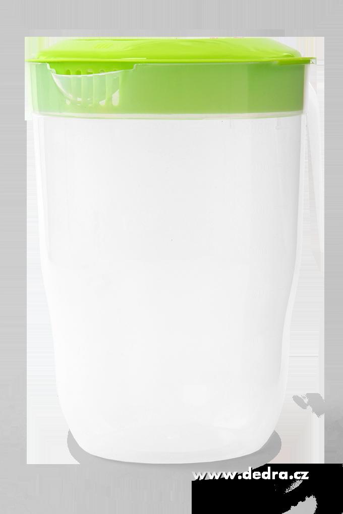 Megadžbán 3500 ml džbán nebo odměrka s víkem zelený