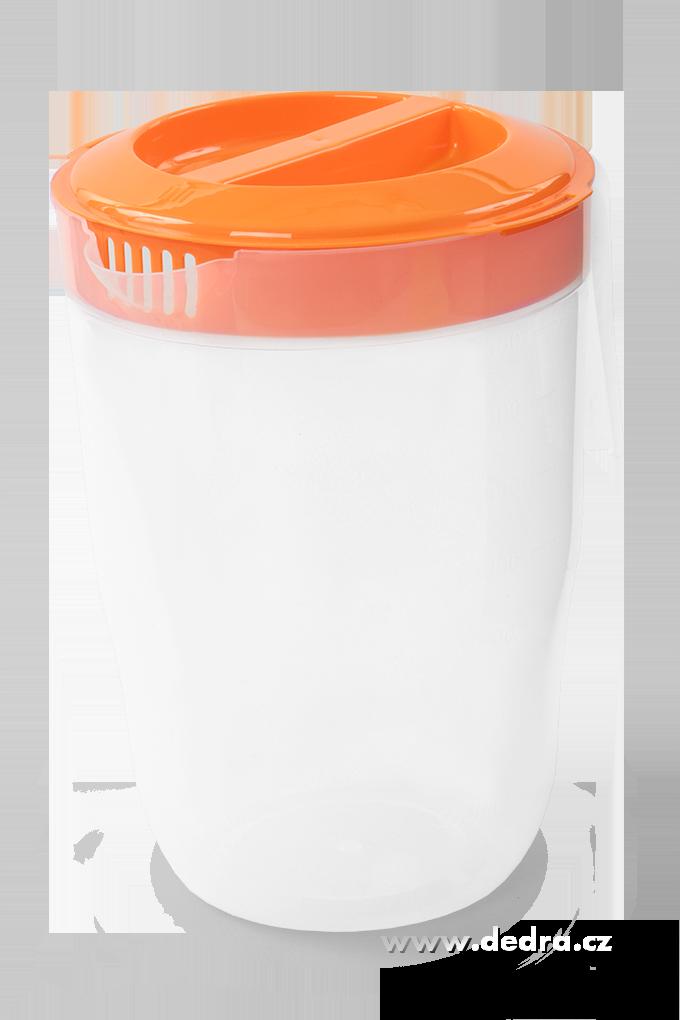 Megadžbán 3500 ml džbán nebo odměrka s víkem oranžový