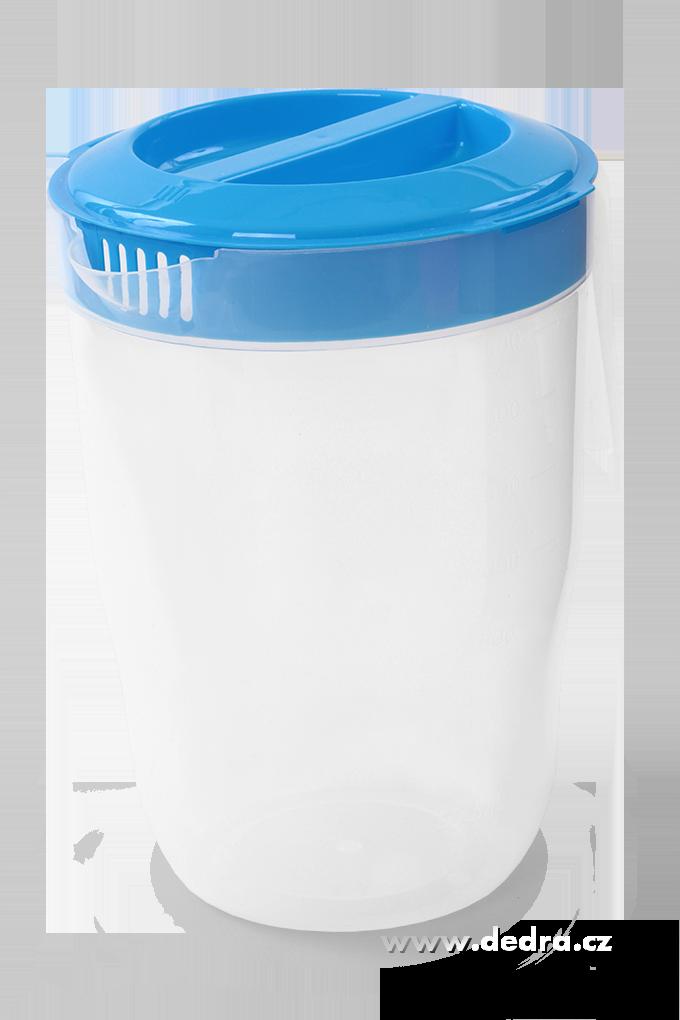 Megadžbán 3500 ml džbán nebo odměrka s víkem modrý