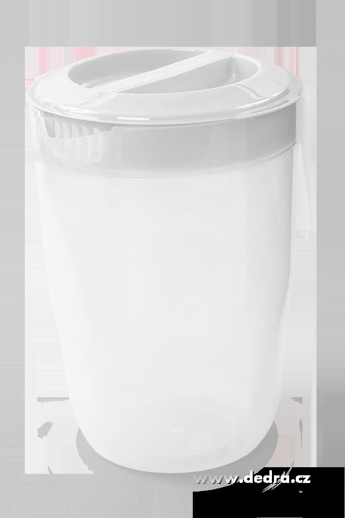 Megadžbán 3500 ml džbán nebo odměrka s víkem bílý