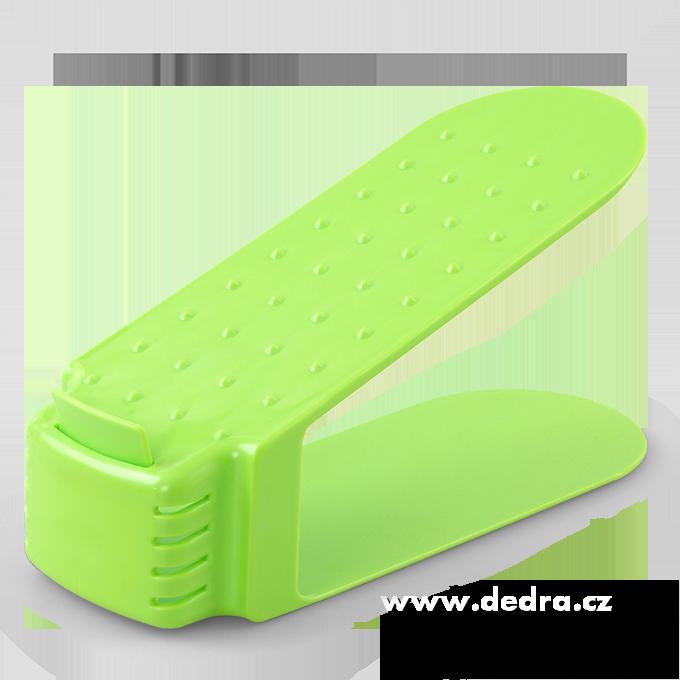 Botoštos stojan na skladování obuvi zelený