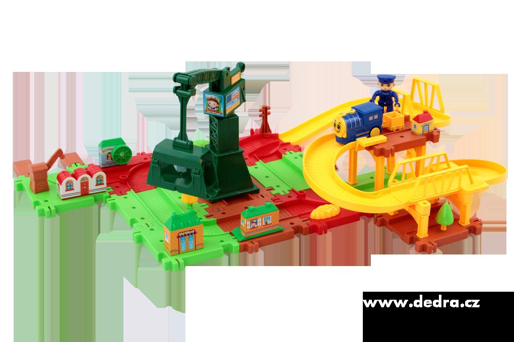 Železniční dráha s jeřábovou věží hračka