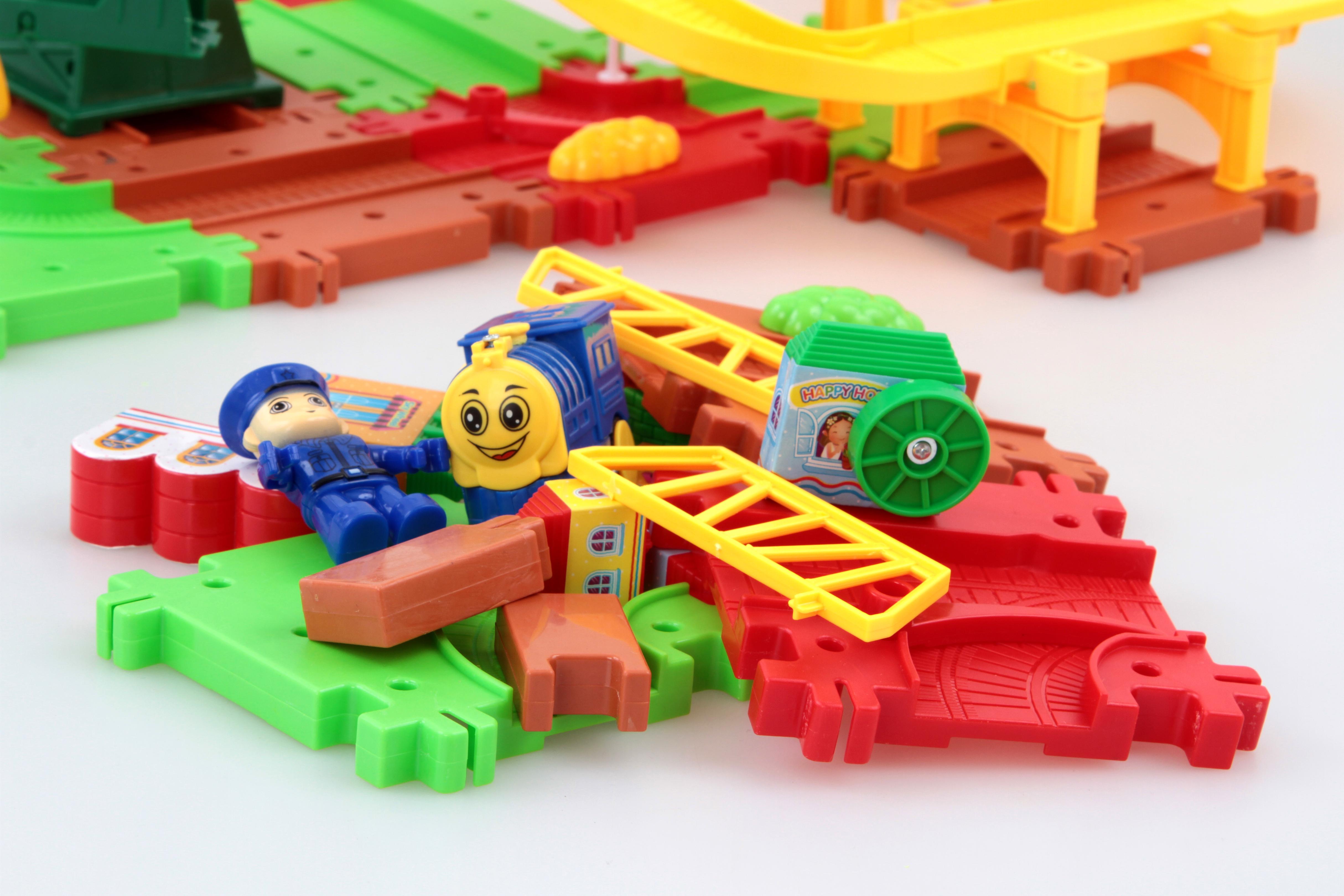 DA83851-Železničná dráha s žeriavovú vežou hračka