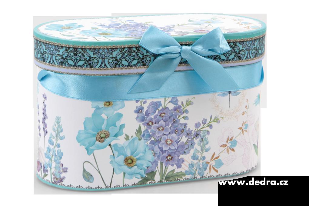 DA83873-2 ks porcelán.hrnek v darčekovom boxe BLUE FLOWERS