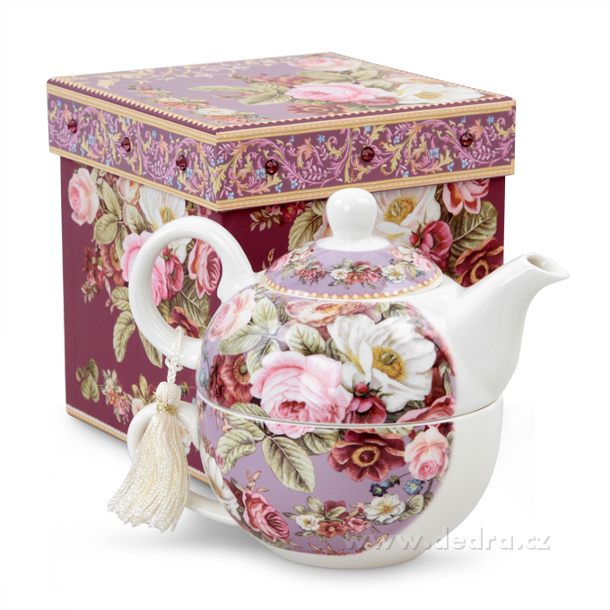 Čaj pro jednoho dárková sada ROMANTIC FLOWERS
